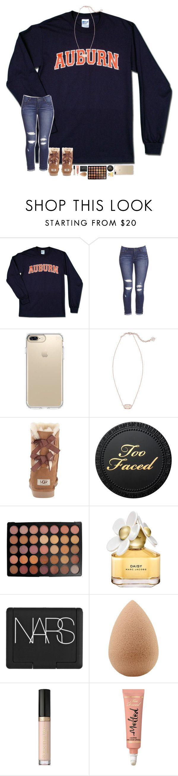 """WAR EAGLE!! "" by hopemarlee ❤ liked on Polyvore featuring Speck, Kendra Scott, UGG Australia, Morphe, Marc Jacobs, NARS Cosmetics, beautyblender, Too Faced Cosmetics and hmsloves"