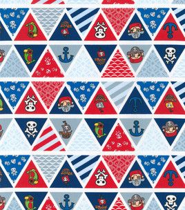 Pirates life bunting flags fabric sup pirate adventure for Kids pirate fabric