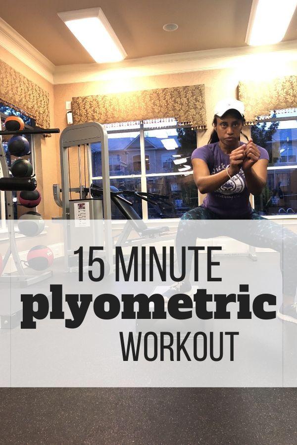 15 Minute Plyometric Workout With Step Plyometric Workout Plyometrics Quick Workout