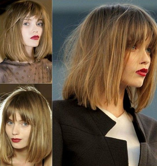 Straight Bob Hairstyle for Shoulder-Length Hair