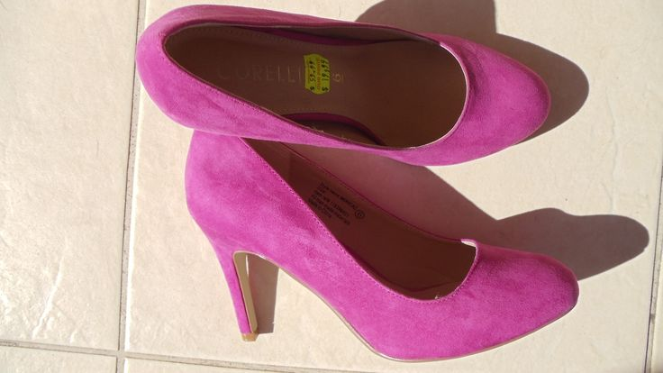 Pink suede shoes!
