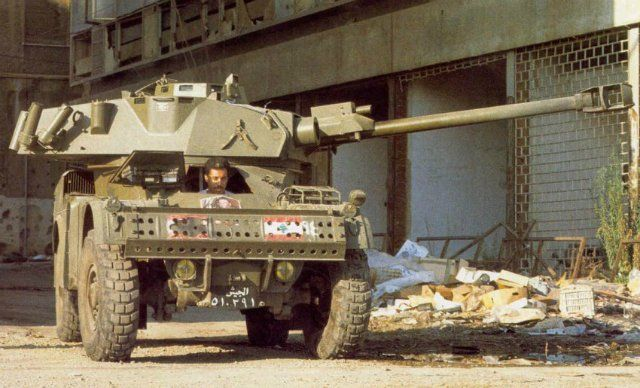 Armored car AML-90 of the Lebanese army. The 80-ies.