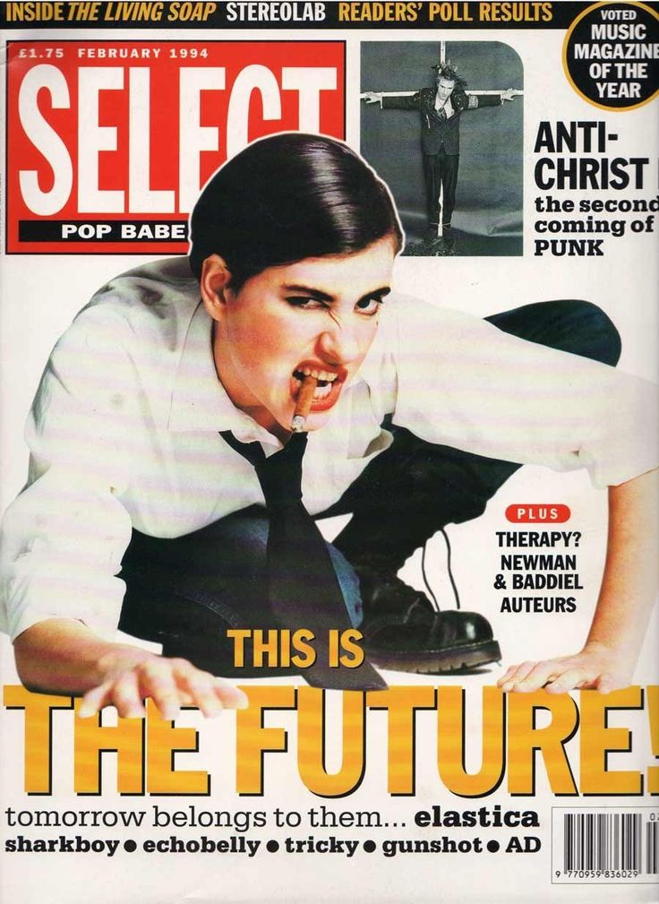 Elastica's Justine Frischmann cut an excellent figure as an indie Marlene Dietrich in February 1994.