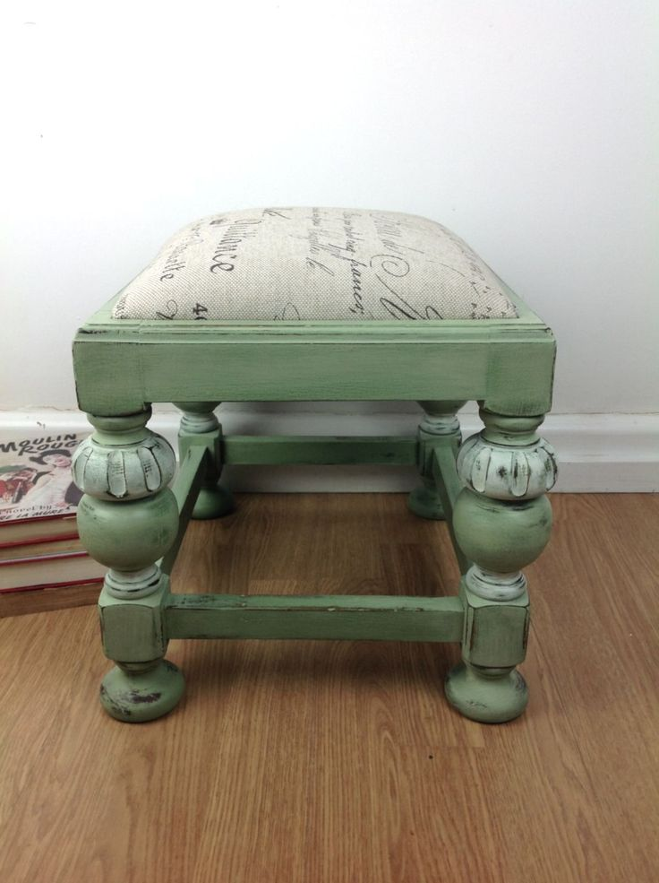 Vintage Timber Footstool Restored Newly Painted in NSW | eBay