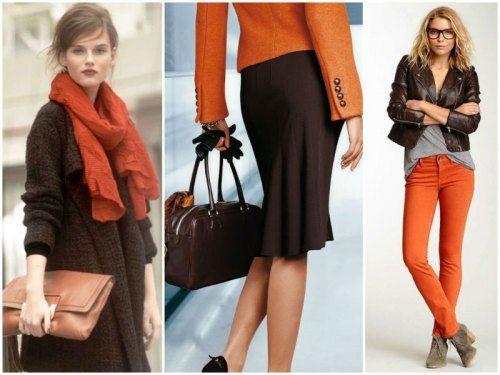 Коричневый+оранжевый