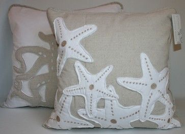 Decorative Throw Pillows for Bed | Starfish Accent Pillow tropical bed pillows and pillowcases
