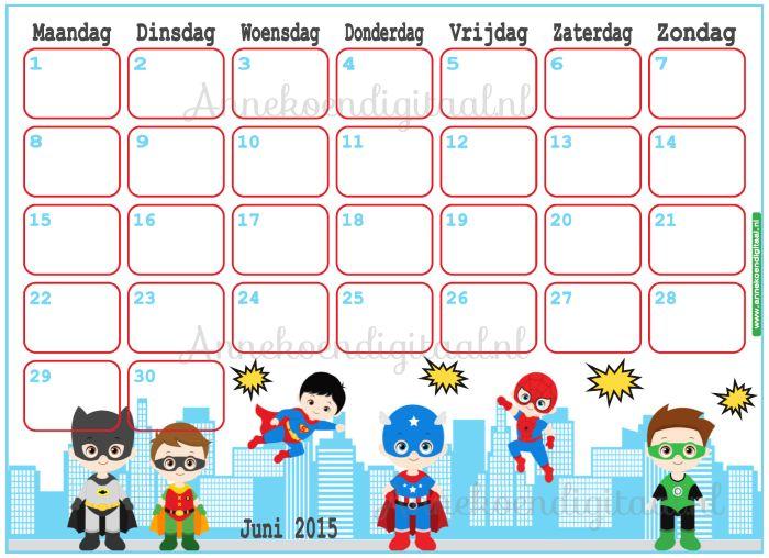 Juni 2015 kalender
