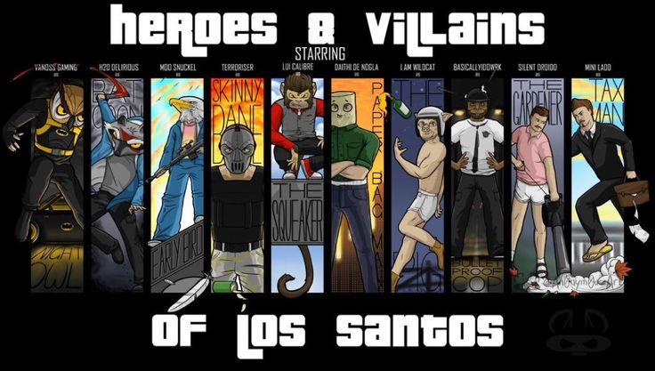 Vanoss, Delirious, Moo, Terroriser, Lui, Nogla, WILDCAT, Basically, Droidd and Mini