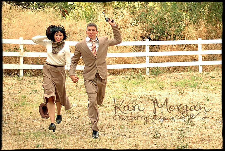Bonnie And Clyde Theme Wedding I Think So