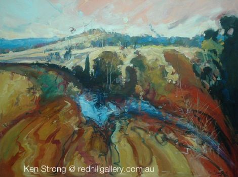 KEN STRONG has been painting Australian landscapes for over 20 years and has received both National and International recognition. His works are characterised by a bold application of paint, but also using a subtle approach to subject development in many cases. His work tends towards an impressionist style with subjects ranging from intimate images combining the influence of man and his surroundings to bold panoramic landscapes. Red Hill Gallery, Brisbane @ redhillgallery.com.au