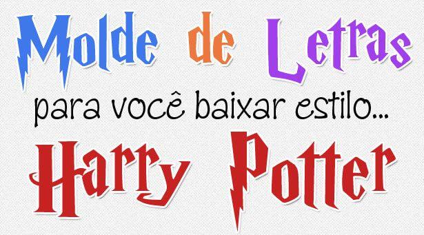Baixe 2 tamanhos de molde de letras e números estilo Harry Potter para artesanato com patch aplique, EVA ou feltro. Nossos moldes estão…