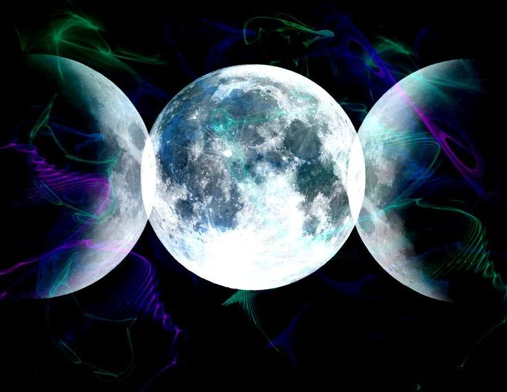 Triple Moon - goddess. Maiden, Mother, Crone.