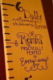 There and Back Again: An Air Force Tale: Watching as They Grow: Mary Poppins DIY Portable Growth Chart