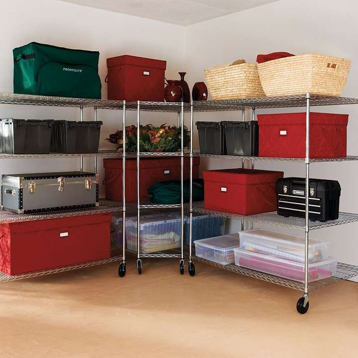FRONTGATE GARAGE SHELVING ON CASTERS...