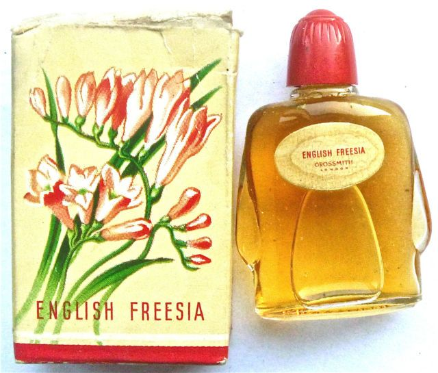 "Original 1950s Grossmith ""English Freesia"" Perfume in box Complete Fragrance 