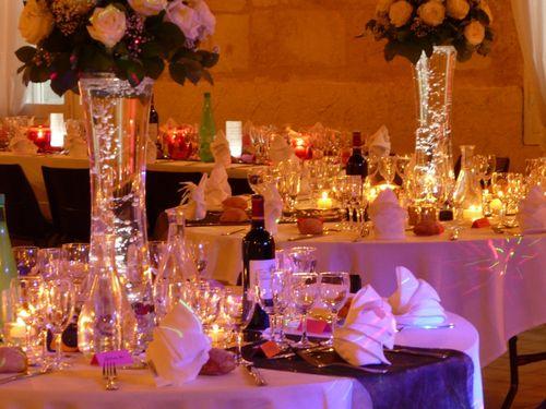 D coration mariage des centres de table lumineux mariage centre and tables - Decoration tables mariage ...