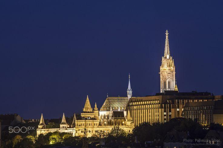 Buda Castle Towers / Budai Vár tornyai - Buda Castle Towers: Fishermen's Bastion, Matthias Church and Hilton Hotel /  Budai Vár tornyai: Halászbástya, Mátyás templom és Hilton hotel