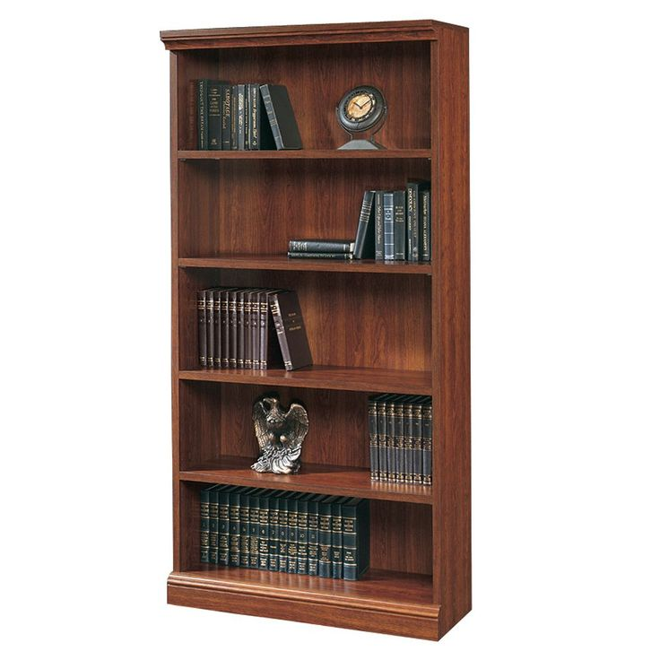 Sauder 5-Shelf Bookcase - Cherry, Brown