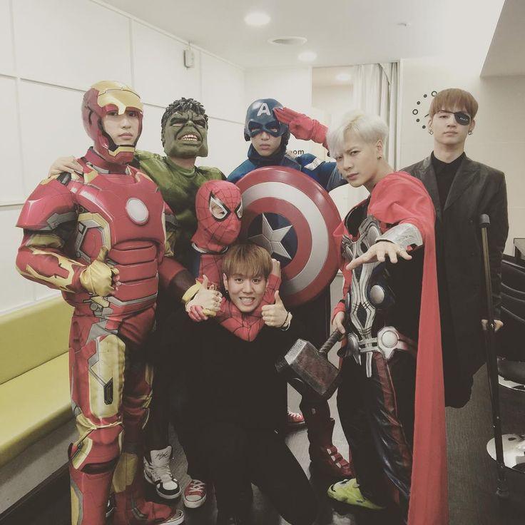 Mark's IG. OMG GOT7 as The Avengers <3