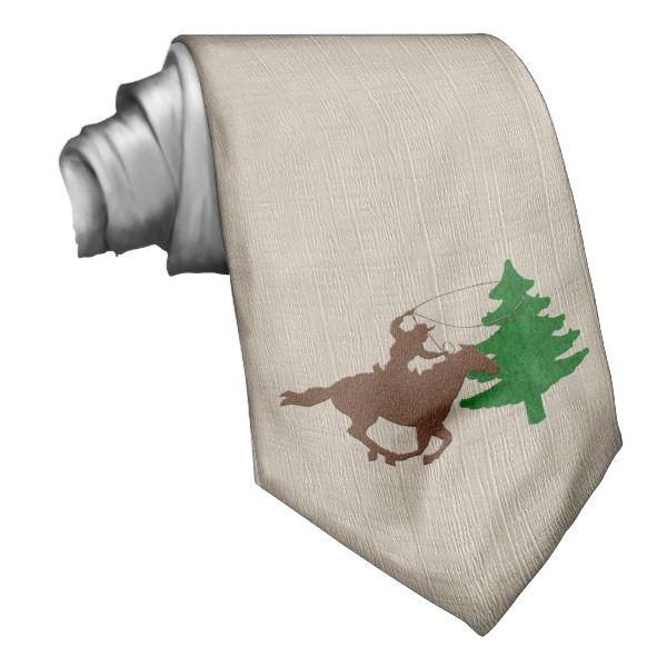 Western Cowboy Christmas Holiday Necktie