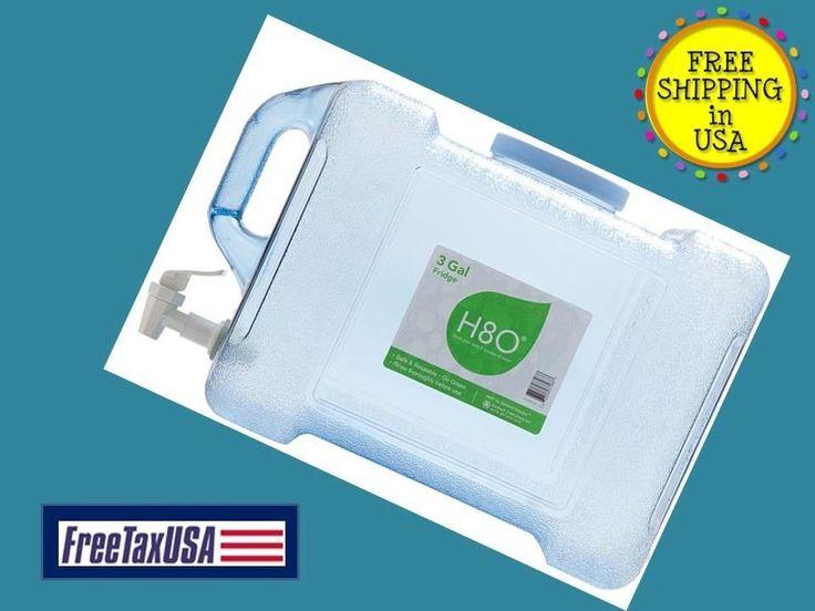 Fridge Water Dispenser 3 Gallon NEW Bottle w Handle Fauce Emergency Preparation  #OreInternational