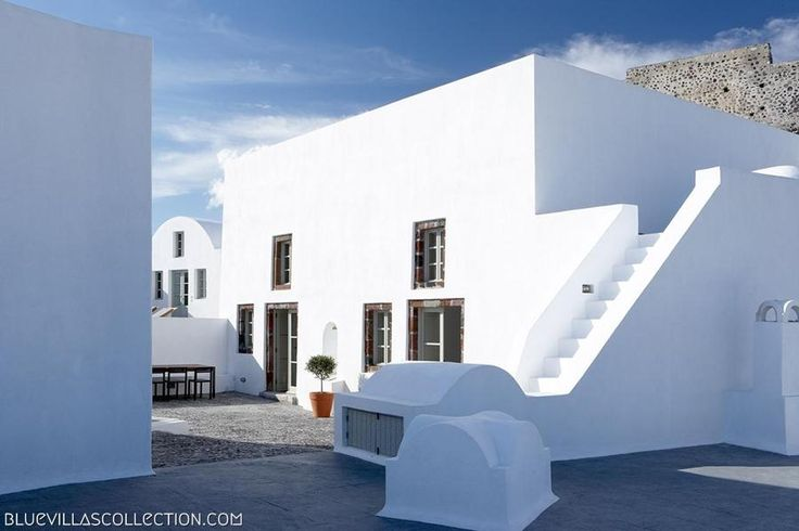 Villa Fabrica |  Luxury Villas in Santorini |  Traditional Cycladic Arhitecture - Villa with a Story- Redesigned Factory - Pool with a View | Blue Villas Collection