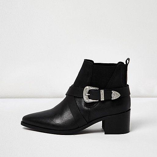Chaussures Robe Noire Avec L'île De La Rivière Des Perforations HleAfVtl