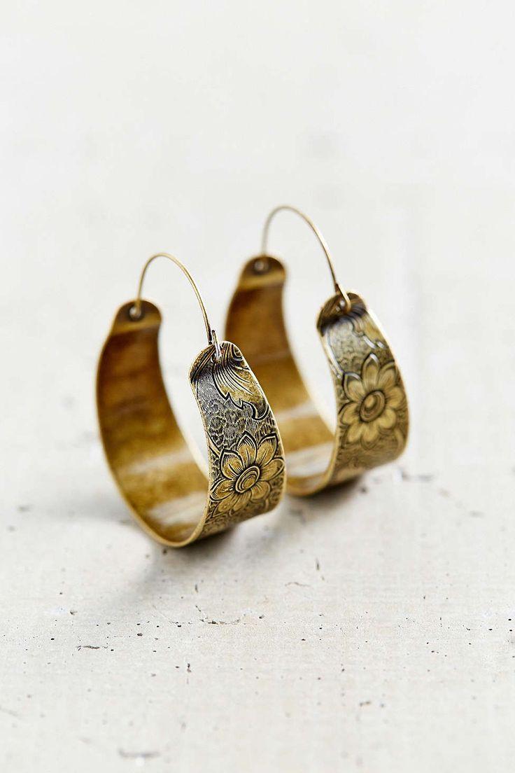 Mandarin Escape Hoop Earring #earring