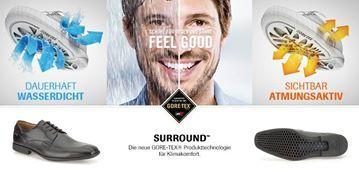 Wechselhaftes Wetter? Kein Problem mit den innovativen GORE-TEX® SURROUND Schuhen für Herren. Finden Sie atmungsaktive & wasserdichte Schuhe: http://www.clarks.de/c/herren-gore-tex-schuhe/surround