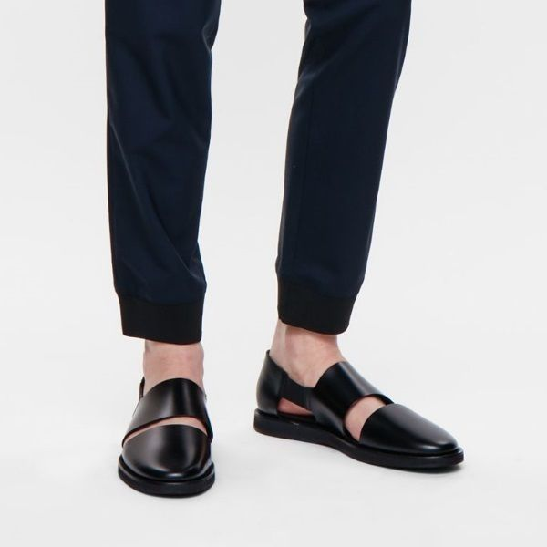 """BUYMA.com """"COS MEN""""SMOOTH LEATHER SANDALS 黒(20955573)"""