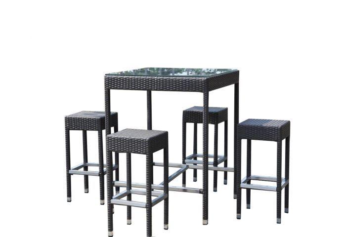 https://www.hoppashops.nl/garden-emotions-5-delige-barset De 5 delige barset van Garden Emotions is ideaal om in de namiddag een hapje en een drankje aan te nuttigen met familie of vrienden. De barset bestaat uit 4 krukken en een tafel met een gehard glazen blad van topkwaliteit.  Volg ons ook op: LinkedIn - https://www.linkedin.com/company/hoppa-shops-bv