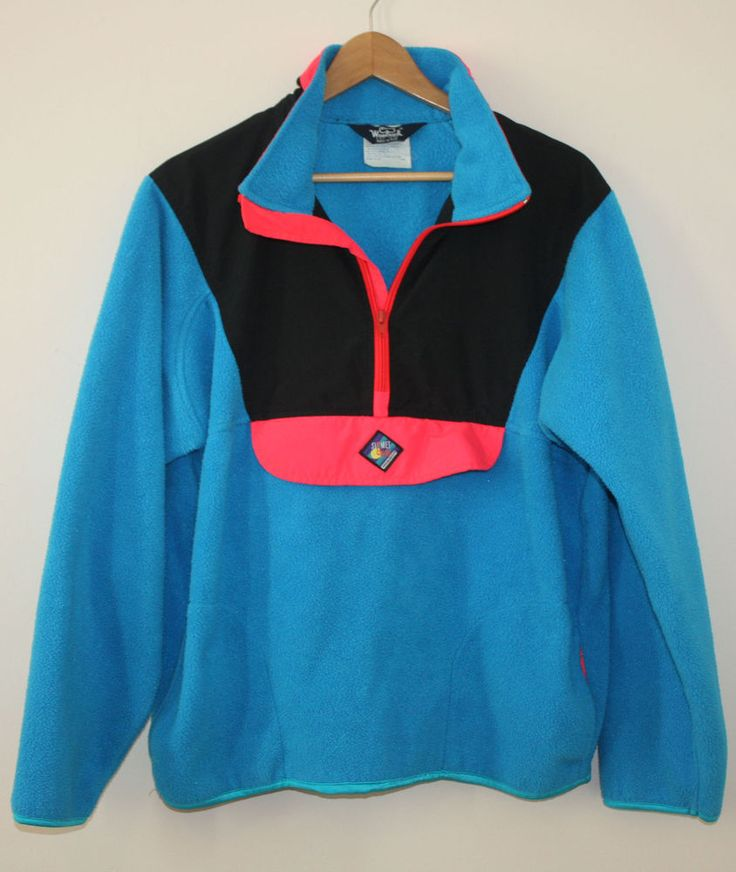 Woolrich Sigmet Gear Retro 90s Pullover Half Zip Fleece Mens ...