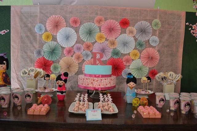 Kokeshi dolls Birthday Party Ideas   Photo 4 of 24   Catch My Party