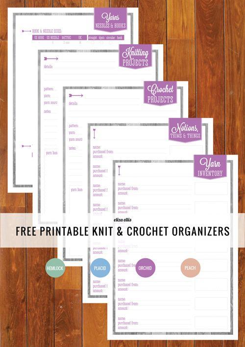 Free Printable Knit & Crochet Organizers