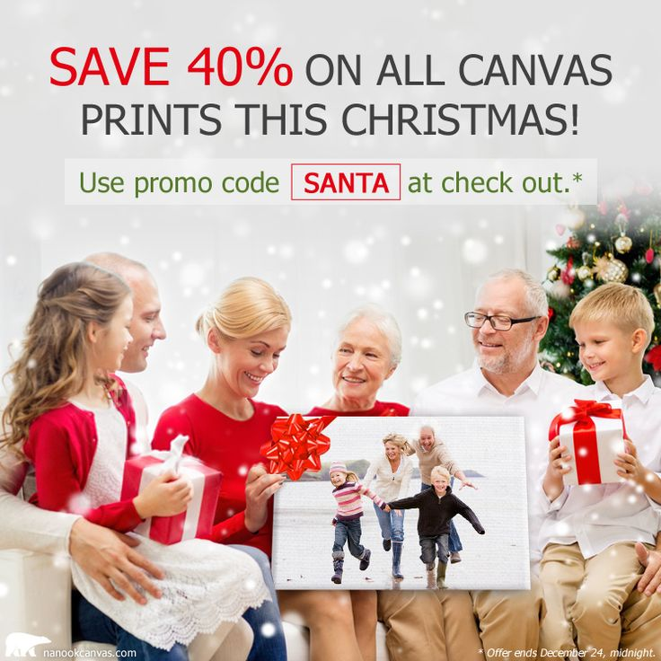 Save 40% on all canvas prints this Christmas ! Use promo code SANTA at check out