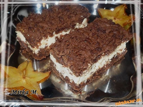 Strúhaný tvarohový koláč mensi plech
