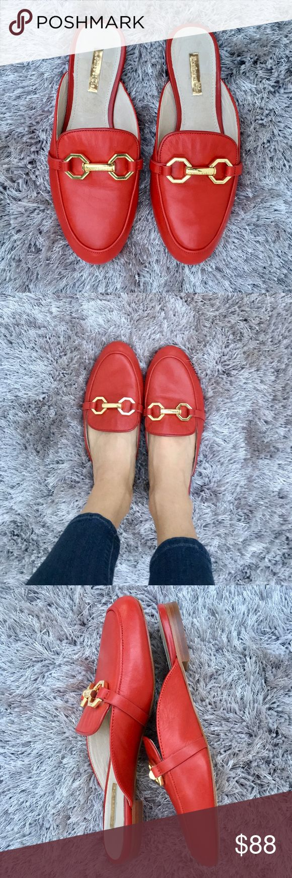 Louise et Cie Finay Loafer Mule 🆕 Lovely Red Leather #mules by Louise et Cie (Vince Camuto) Cushioned footbed Gold tone hardware Genuine leather True to size Brand new, without tags Vince Camuto Shoes Mules & Clogs