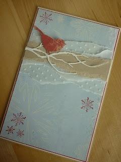 """Jenny's Papierwelt: Karte ~ """"Schneevogel""""~"""