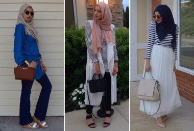 hijab muculmano com roupas ocidentais