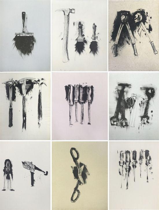 Untitled Tools (Portfolio of Nine Prints) by Jim Dine..2009...($12-18,000)