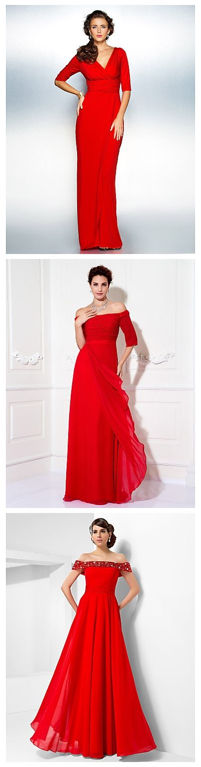 Elegant and beautiful long red dresses. Will you wear them to parties?