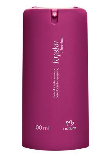 A fragrância do desodorante colônia Kriska Liberdade agora em desodorante spray.