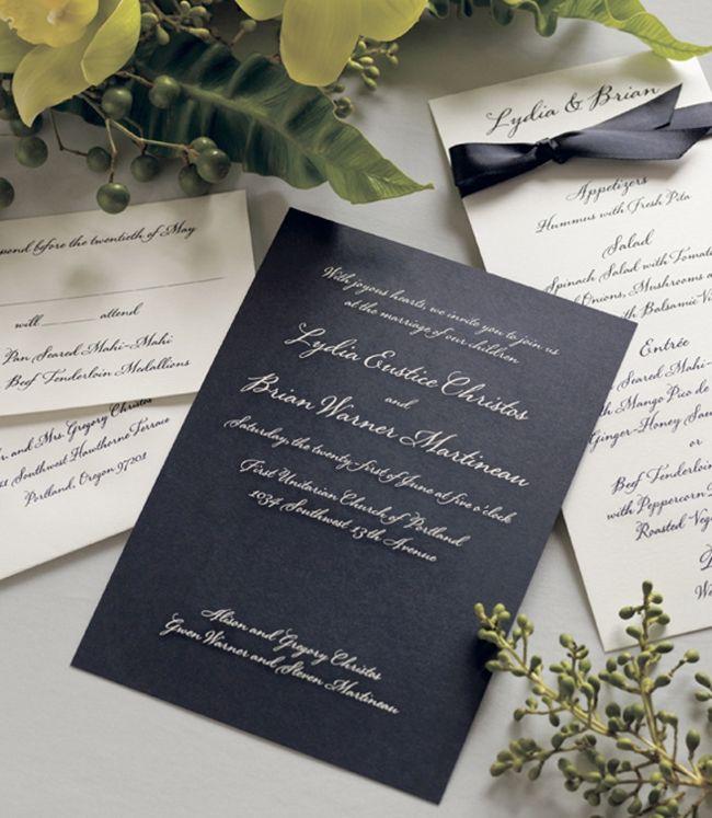 pinterest'teki en iyi 17 vera wang invitations görüntüleri, Wedding invitations