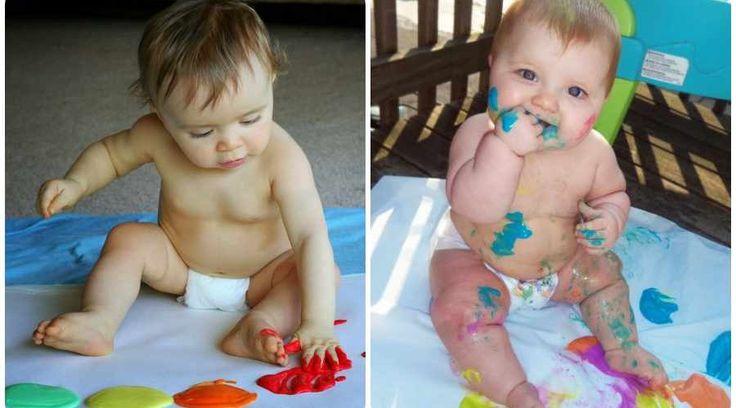 Cómo hacer pintura de dedos comestible para niños