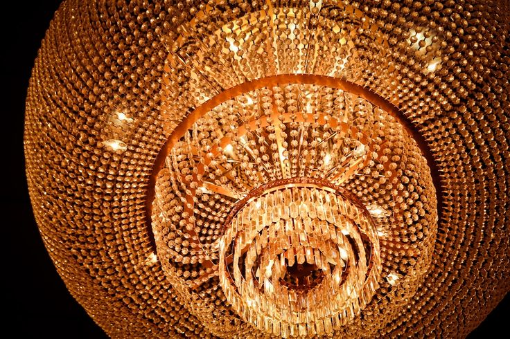 Chandelier at the Boston Marriott Quincy's ballroom