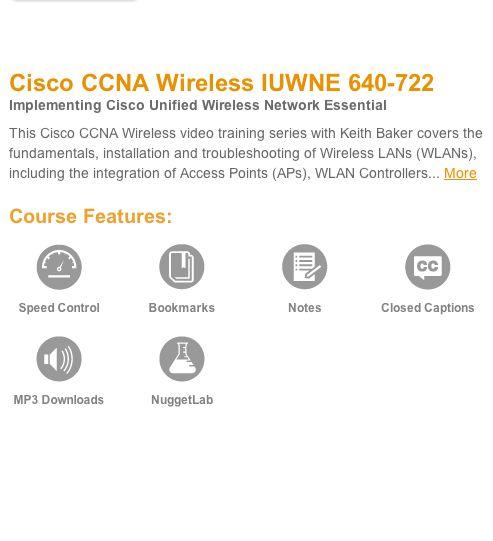 cisco ccna wireless iuwne 640-722 cbt nuggets free