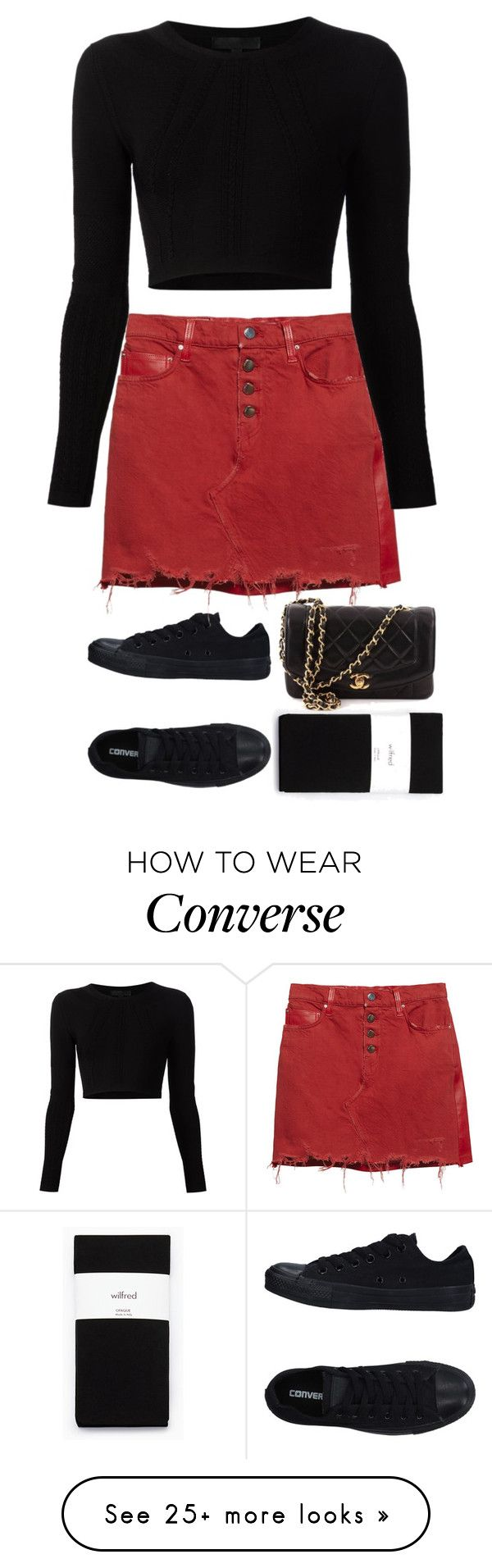 """Untitled #792"" by ayalikeschicken on Polyvore featuring Converse, AMIRI, Cushnie Et Ochs and Chanel"