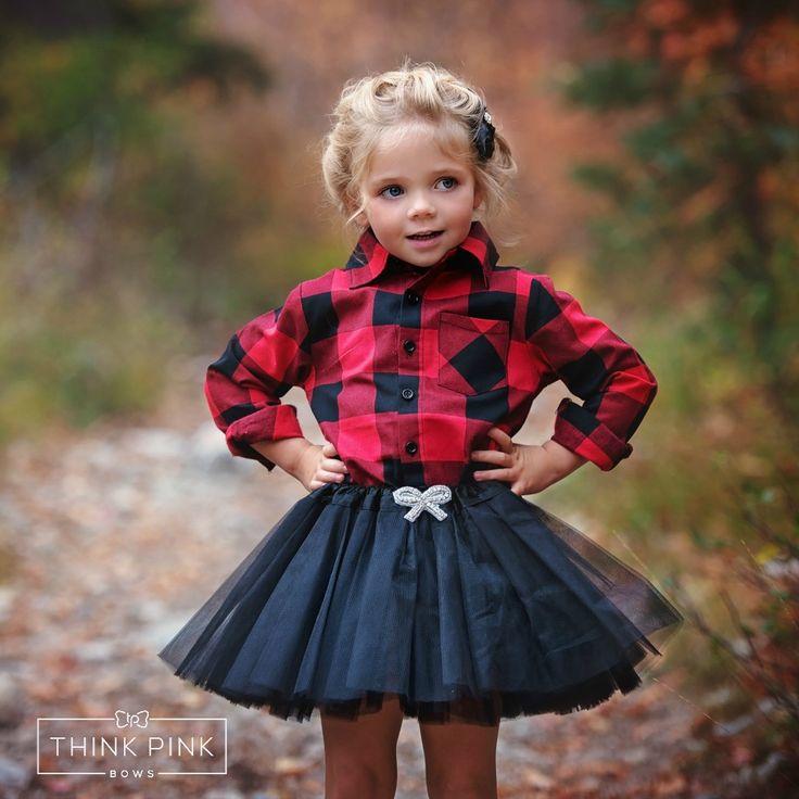 Buffalo Check Long Sleeve Shirt - Red & Black #All #Autumn-Favorites #Black
