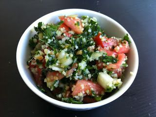 Tabbouleh - Vegucated in Vancouver . Try with another grain such as quinoa for gluten-free