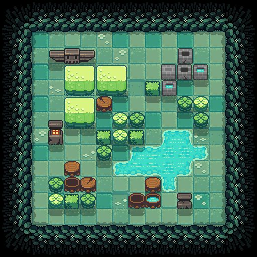 Indie Game #ArtWall -   Invisagun Heroes  Title: Forest tile set